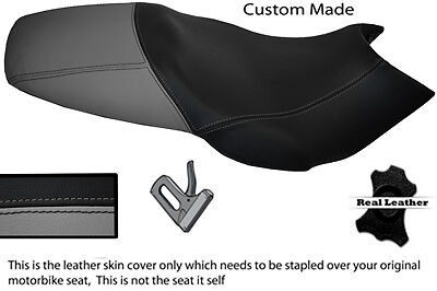 GREY /& BLACK CUSTOM FITS GILERA DNA 50 125 180 REAL LEATHER DUAL SEAT COVER