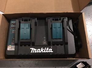 New-Makita-DC18RD-18-Volt-Charger-Lithium-Ion-Dual-Port-Rapid-OptimumW-USB-PORT