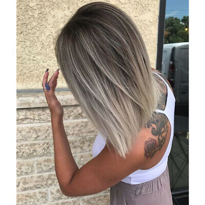 9a European 100 Remy Human Hair Wigs Ombre Short Bob Ash Blonde Full Lace Wigs Ebay