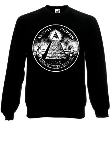 Illuminati Work is Never Complete All-Seeing Eye Fun Jumper Sweatshirt Top  AD83