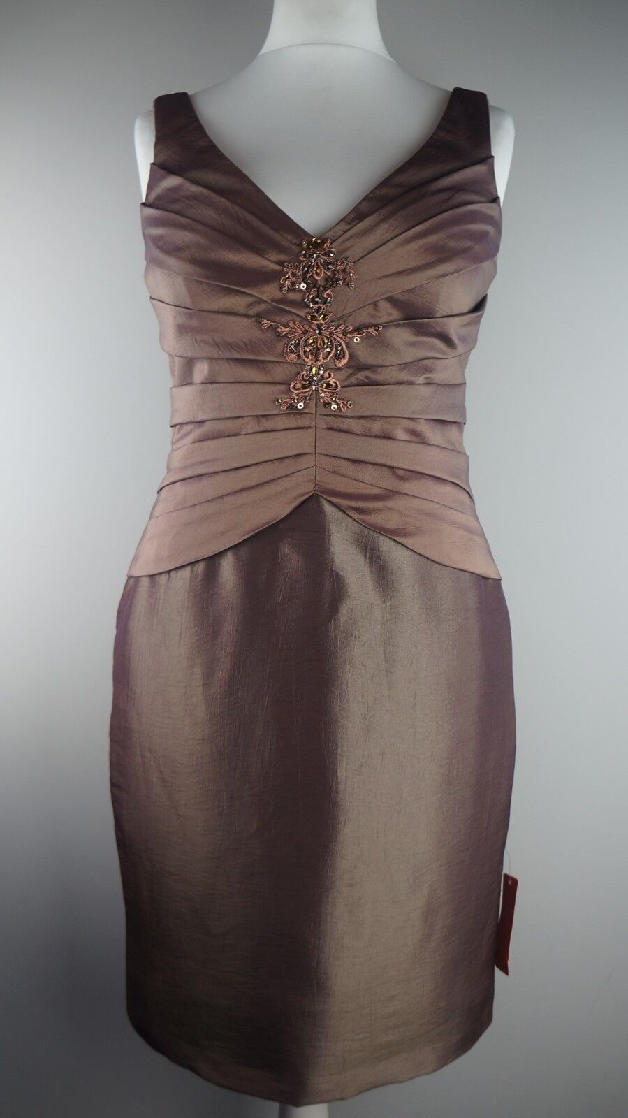 ULTIMO COUTURE Cocktail Dress BNWT Copper Embellished Party Occasion Dress Sz 12