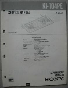 SONY-KI-104PE-Service-Manual-inkl-Supplement-1