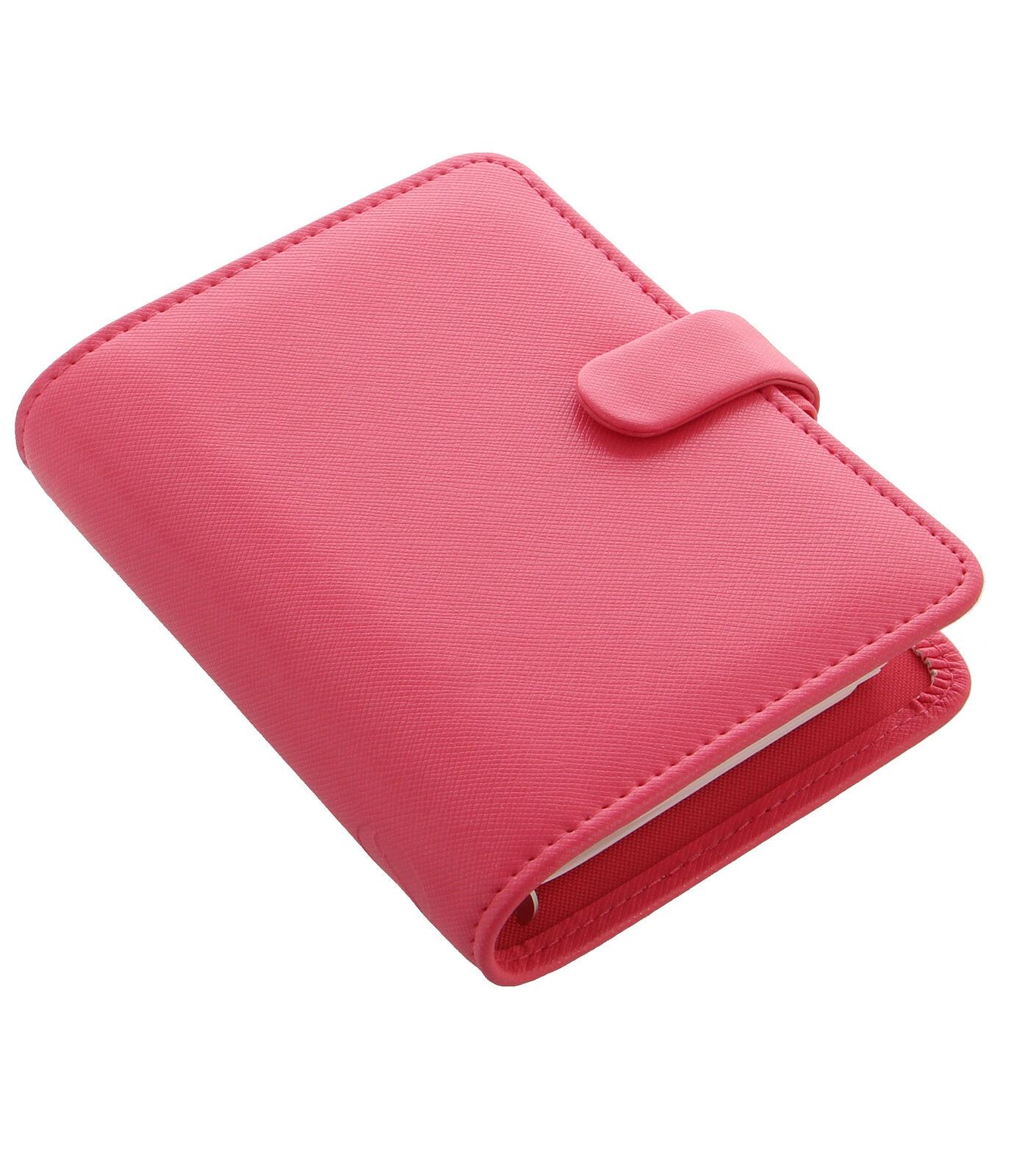 Filofax - Tasche Saffiano PfingstRosa mit Wtv Tagebuch & Nachfüllpatrone | Ausgezeichneter Wert