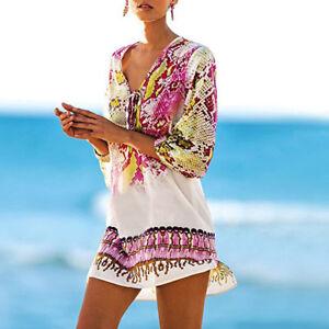 748709318d Image is loading Sexy-Women-Swimwear-Bathing-Beachwear-Bikini-Beach-Kaftan-