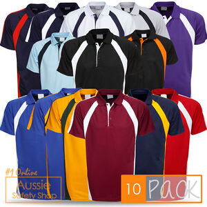 10-X-ADULTS-KIDS-COOLFAST-SPORTS-CLUB-WEAR-OFFICE-BUSINESS-GYM-UNIFORM-POLOS