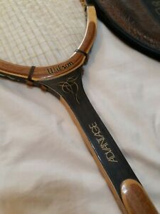 Wilson Advantage Light Vintage Wood Tennis Racquet 4-1/2 with cover