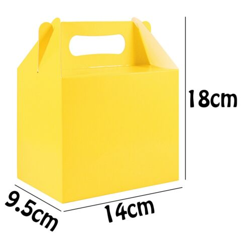 1//6//12 Yellow Card Party Favour Loot Boxes Birthday Easter Wedding Sweets Food