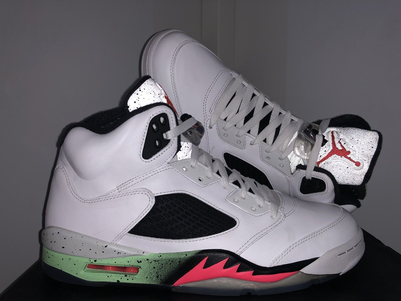 buy online 435a2 0a5e3 Air Jordan 5 V Retro Poison Green Green Green Space Jam Mcfly Mag DB PE OVO