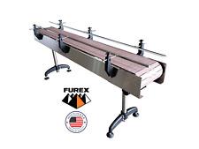 Furex Stainless Steel 8 X 12 Wide Inline Conveyor With Plastic Table Top Belt