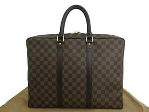 Auth-LOUIS-VUITTON-Damier-Ebene-Porte-Documents-Voyage-Bussiness-Handbag-e45191a