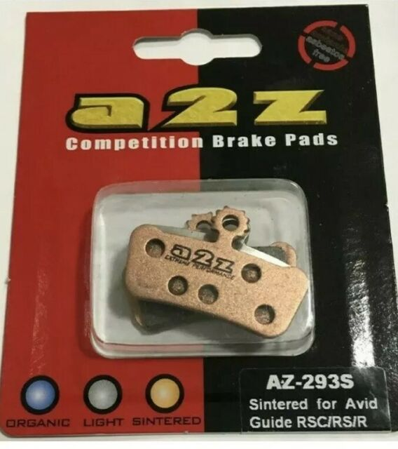 a2z Competition Brake Pads AZ-293S Sintereed for Avid Guide RSC//RS//R