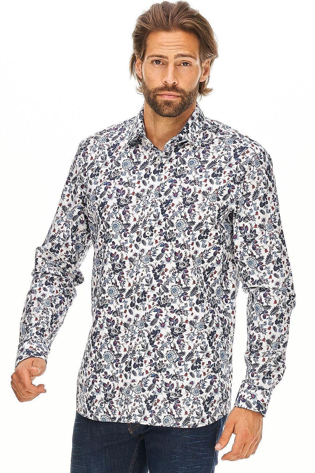 Van Laack-Camicia tet2 Uomo Motivo Floreale Designer Nuovo