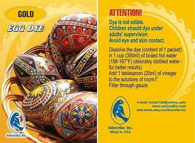 Pysanka/Pysanky, Easter Egg Art, Gold Egg Dye, Soloveiko Inc.