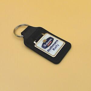 Rothmans Rally black leather key ring key fob - high quality keyring ... 7815f30c2cd8