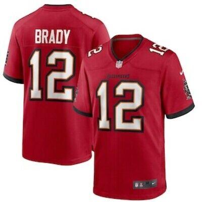 tom brady jersey red 3xl