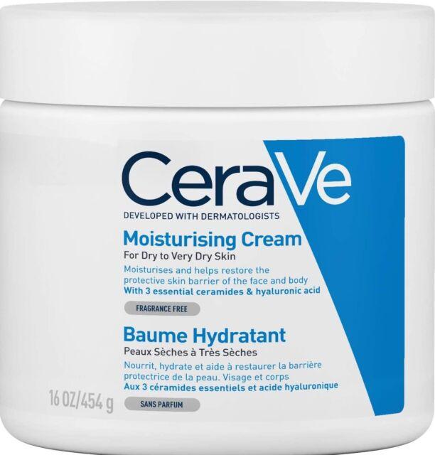 CeraVe Moisturising Cream 454g Face Body Moisturiser Dry Itchy Skin Relief Cream