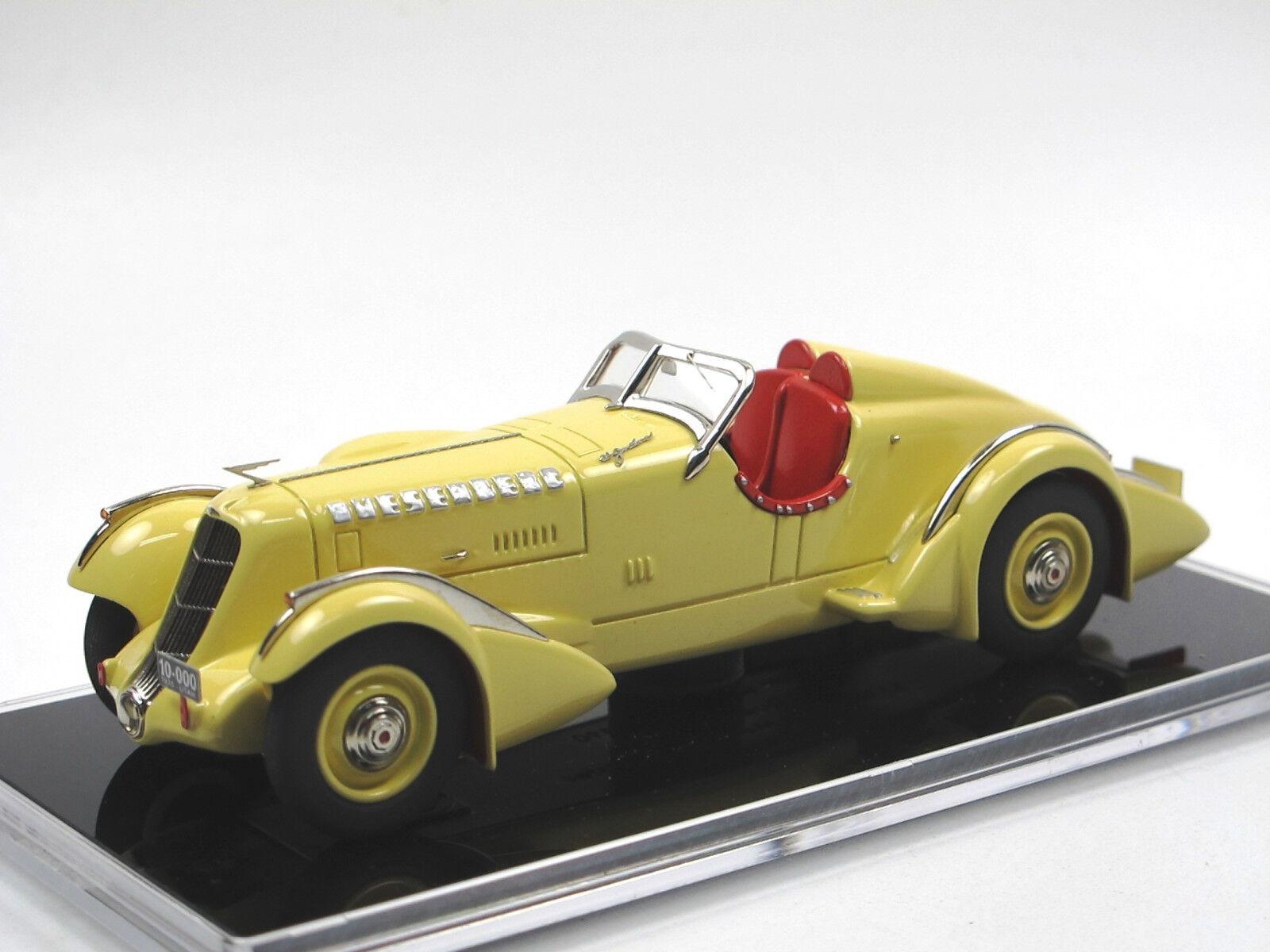 1935 Duesenberg SJ Mormon Meteor Speedster vit Metal exquisit 1  43 Tin Wizard