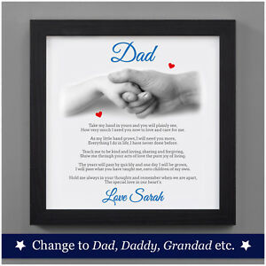 personalised first 1st fathers day gifts from daughter son fathers