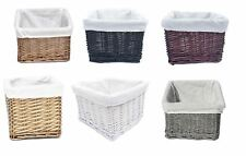 REDUCED TO CLEAR Small Wicker Willow Nursery Organiser Storage Hamper Basket