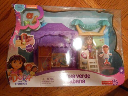 READ DESCRIPTION! PLAYA VERDE CABANA Playset Dora and Friends Age 3 and Up