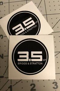 Briggs & Stratton 3.5 Hp Starter Decal 1990's Set 2
