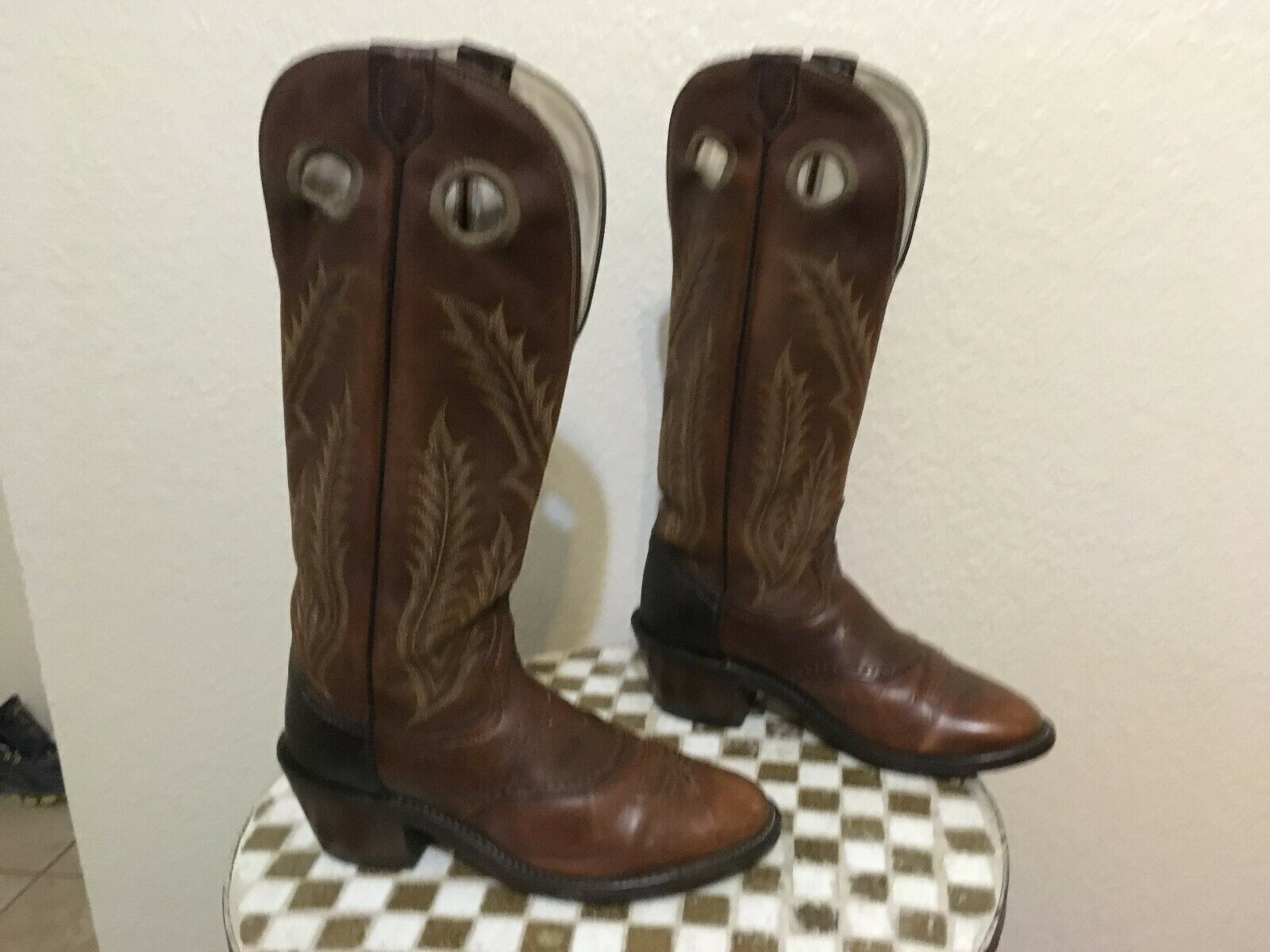 TONY LAMA 6891 BROWN USA WESTERN BUCKAROO BOOTS 8 D