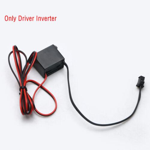 Mini DC12V 1-5M EL Wire Cable Neon Glow Strip Light Power Driver Inverter NEW