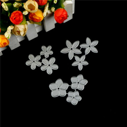 3X Small Flower Design Metal Cutting Die For DIY Scrapbooking Album Paper CardS!