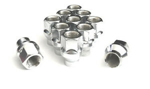 "20 OPEN END ACORN 1//2-20 CHROME WHEEL LUG NUTS .55/"" HEIGHT EXTRA SHORT FORD JEEP"
