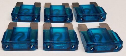 6 Pack of 60 Amp Large Blade Style Audio Maxi Fuse for CarRVBoat