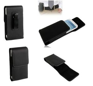 Leather-Flip-Belt-Clip-Metal-Case-Holster-Vertical-para-gt-Sony-Xperia-V