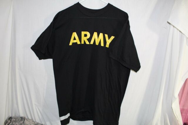 Army APFU Shirt Extra Large Black Polyester PT Short Sleeve Physical Training