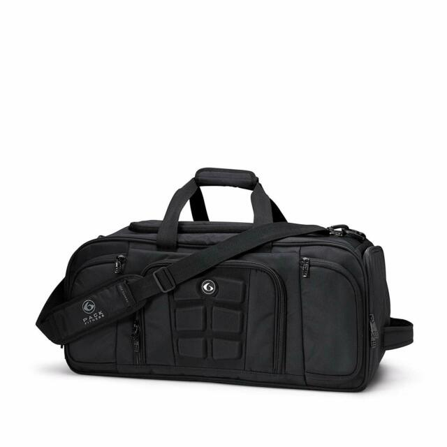 6 Pack Fitness Expert Beast Duffle 500 Stealth Black w//Removable Core