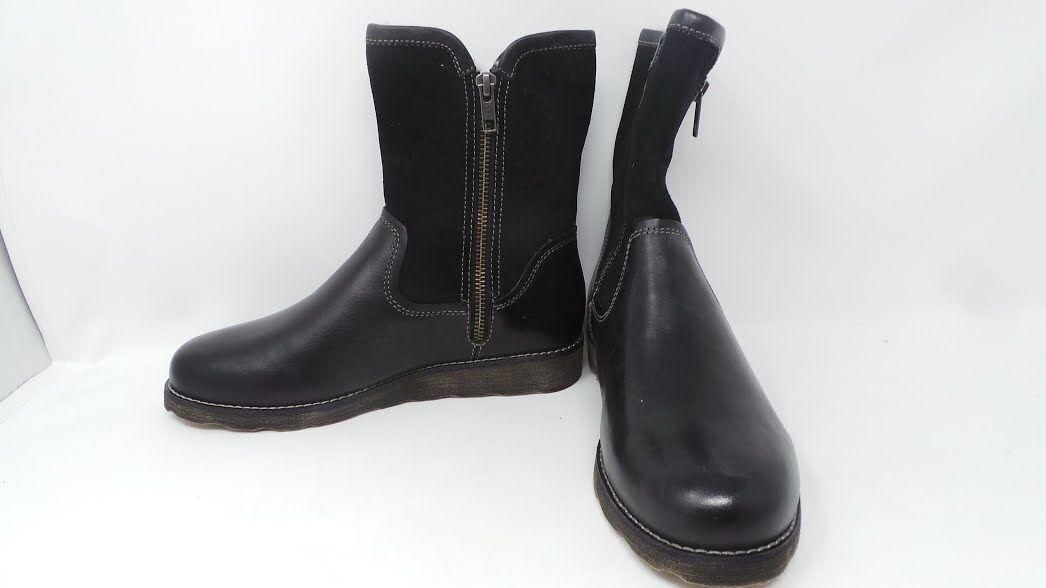 New Womens Eastland Gabriella Double Zip Boots Style 317901 Sz 6 Black 197D pr