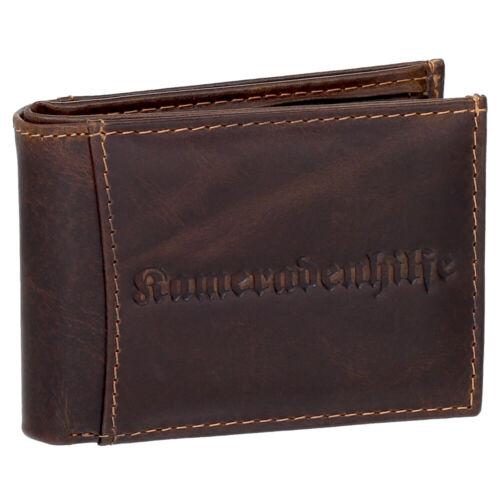 Kameradenhilfe kleine Leder Herren Geldbörse Geldbeutel Minibörse Portmonee 5519