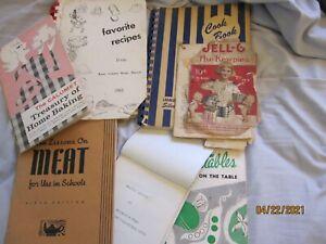 8 Vintage cookbooks-Art of Cooking-1929 & other food/cookbooks 1940's 1950's