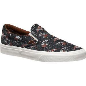 VANS-Classic-Slip-On-Samurai-Warrior-Black-Men-039-s-Skate-Shoes