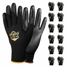 Safety Work Glovesbulk 12 Pair Pack Size L9 With Grip Large Black