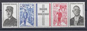 France-Bande-1698-A-Timbres-Neufs-General-de-Gaulle