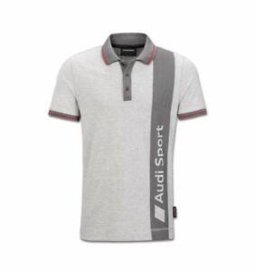 Audi-Sport-Polo-Shirt-Men-Grey-Size-S-M-L-XL-XXL