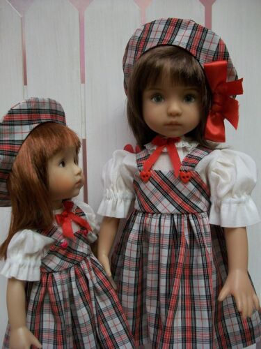 "Hats Sisters #4 Effner Little Darling and 10.5/"" Boneka Pattern Skirts Blouses"