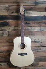 Seagull Excursion Natural Solid SPRCE Acoustic Dreadnought Guitar DAMAGED #D0789
