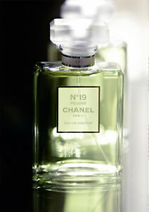 Chanel no 19 poudre eau de parfum sample 2ml 3ml 5ml perfume.