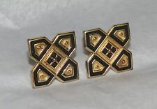 """Vintage Mens Jewelry Cufflinks Gold Tone Signed """" A """""""