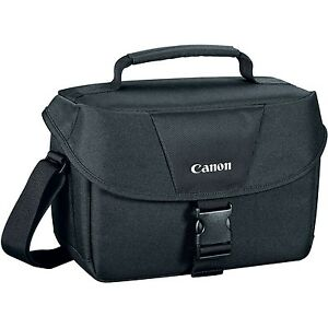 Canon-100ES-Black-Shoulder-Bag-for-Digital-Camera-Fits-Camera-2-Lenses-Flash