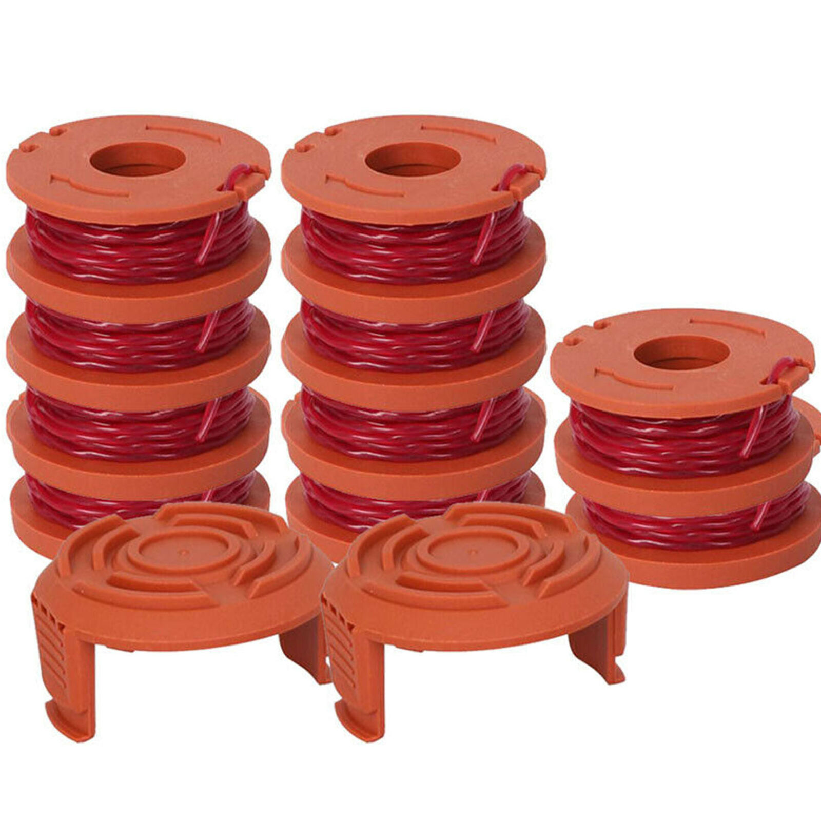 2 Caps 12 Pack Replacement Spool String Trimmer Line For WORX 10 Pack Spools