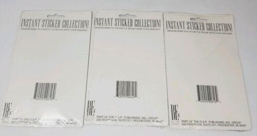 3 1993 Saban Mighty Morphin Power Rangers Sticker Collection NEUF non ouvert