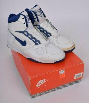 1991 Nike Air Sabre Flight Hi White Blue Mens Vintage 90s Sneakers NIB US 8.5 | eBay