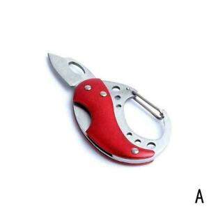 Survival-Folding-Pocket-Steel-Round-Messer-Outdoor-Selbstverteidigung-D4R6