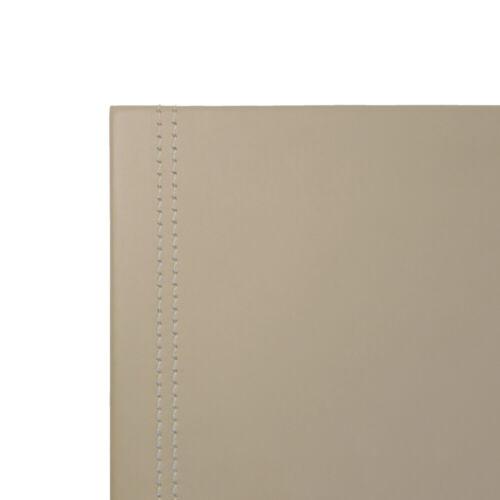 cm 50x35 Schreibtischunterlage Leder Taubengrau Aufbau aus Stahl Gleitschutz